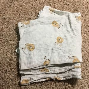 aden + anais Swaddle Baby Muslin Blanket w/Lions